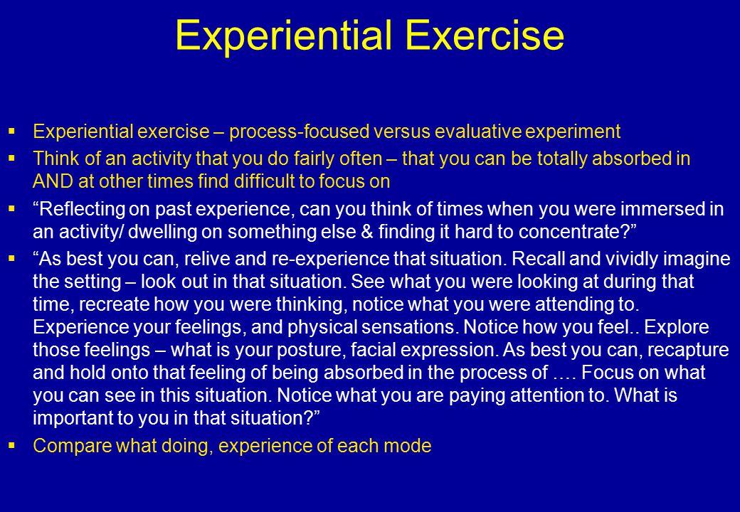 Experiential Exercise
