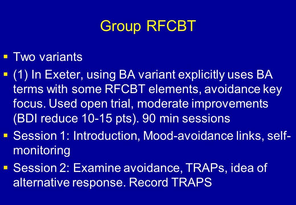 Group RFCBT Two variants
