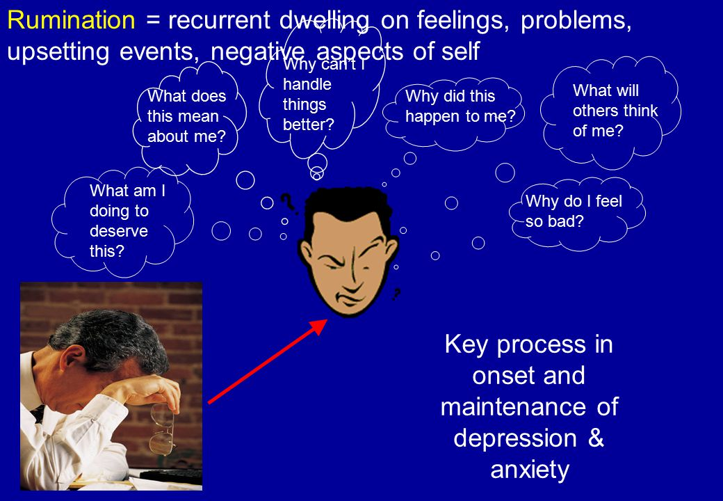 Key process in onset and maintenance of depression & anxiety