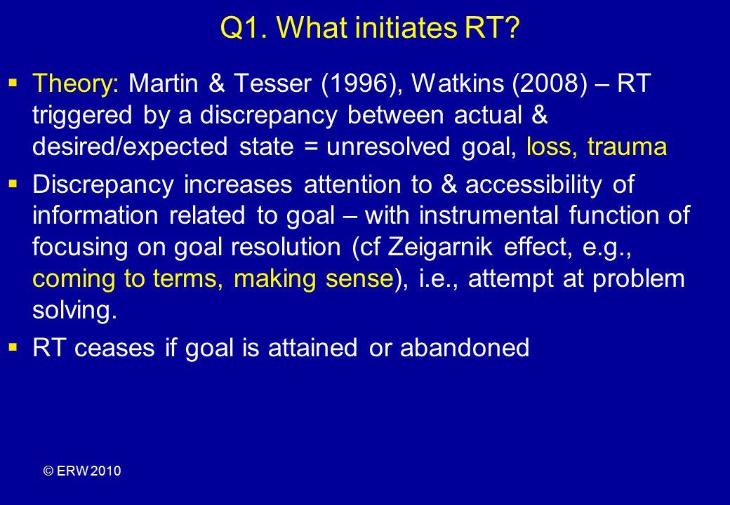 Q1. What initiates RT