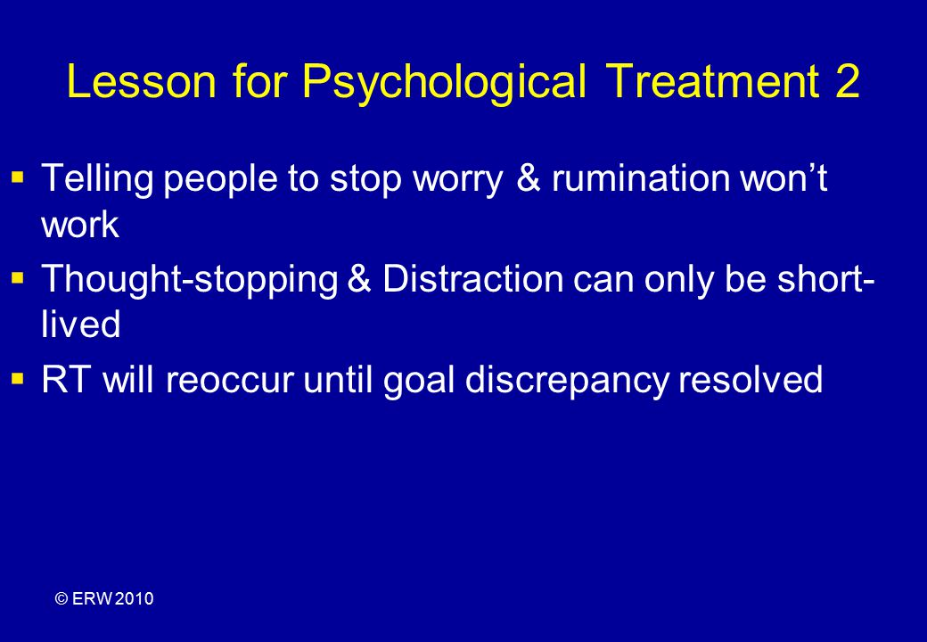 Lesson for Psychological Treatment 2