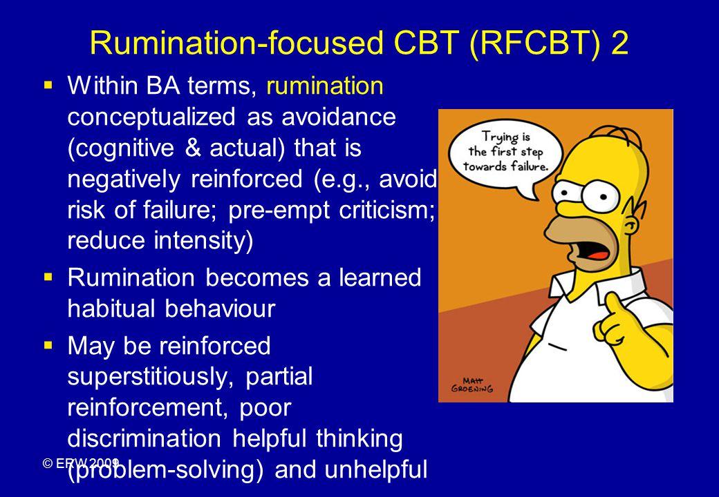Rumination-focused CBT (RFCBT) 2