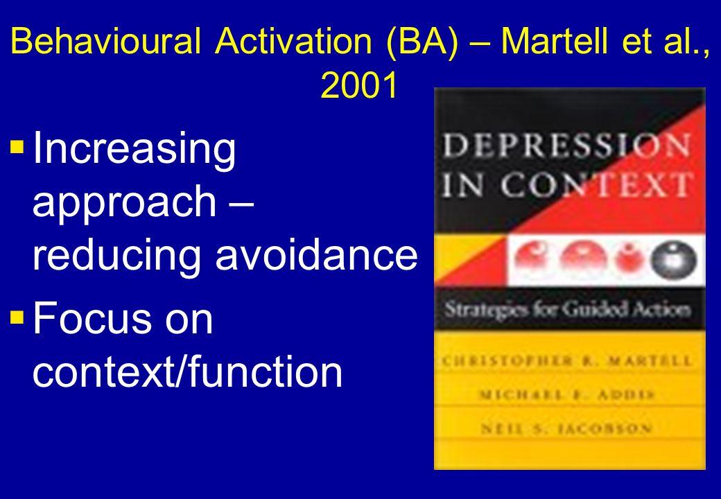 Behavioural Activation (BA) – Martell et al., 2001