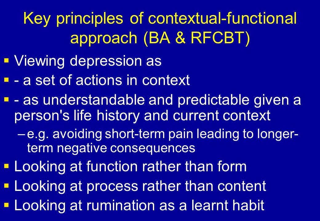 Key principles of contextual-functional approach (BA & RFCBT)