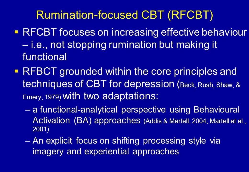 Rumination-focused CBT (RFCBT)