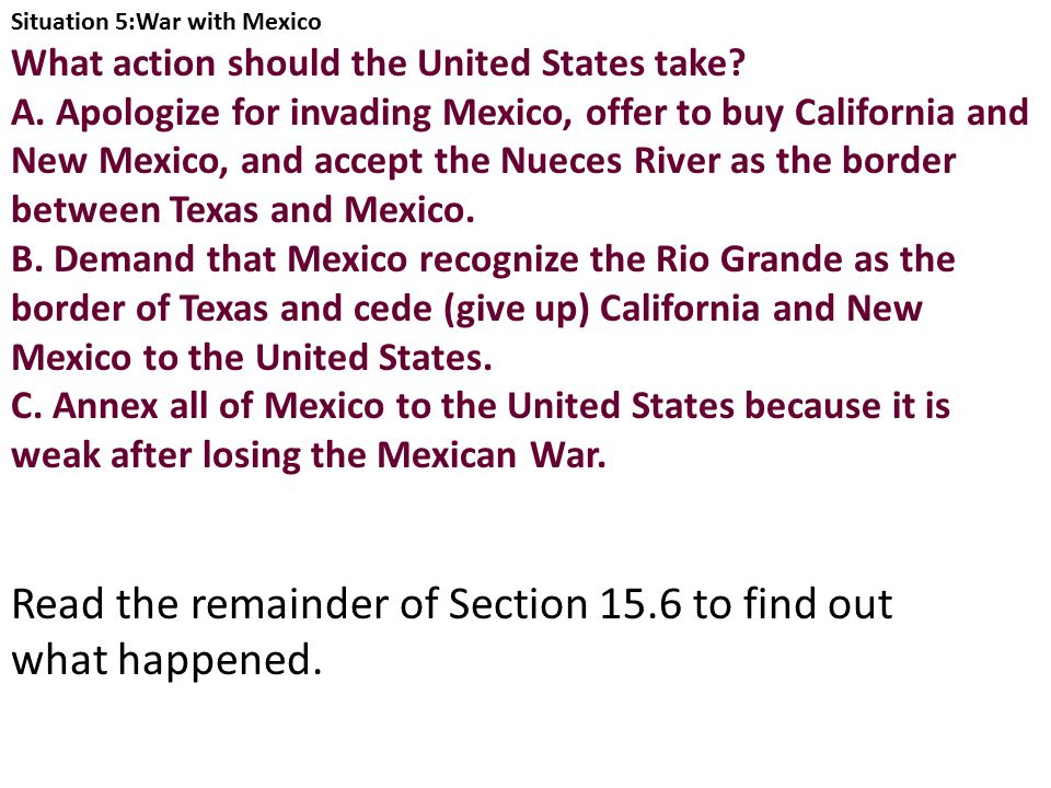 Read the remainder of Section 15.6 to find out what happened.