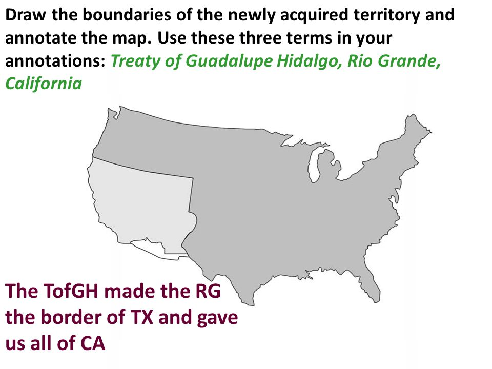 The TofGH made the RG the border of TX and gave us all of CA