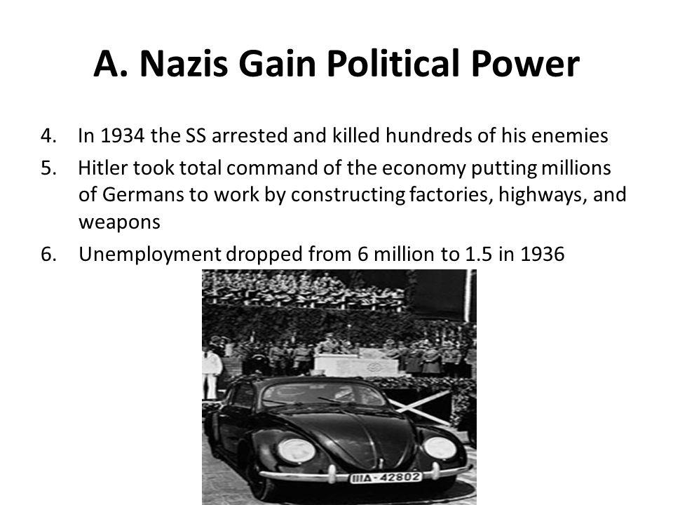 A. Nazis Gain Political Power