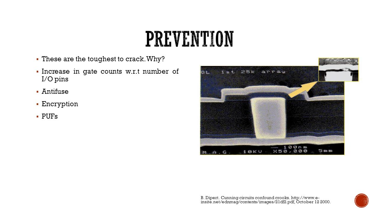prevention These are the toughest to crack. Why