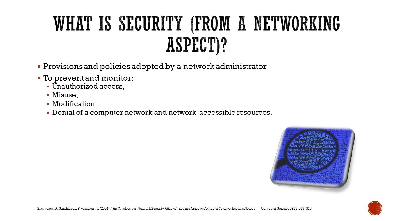 What is Security (from a networking aspect)