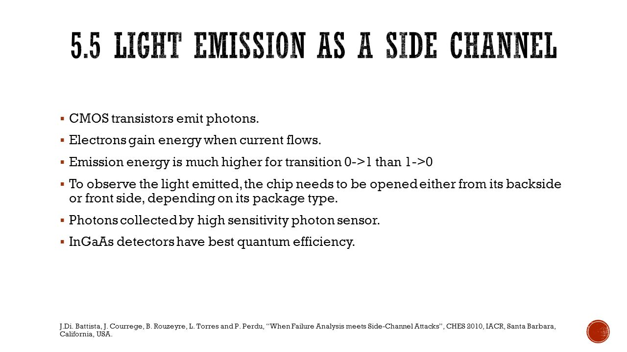 5.5 Light Emission as a side channel