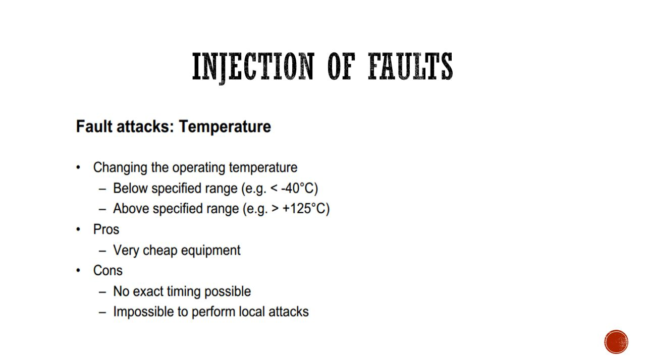 Injection of FAULTs