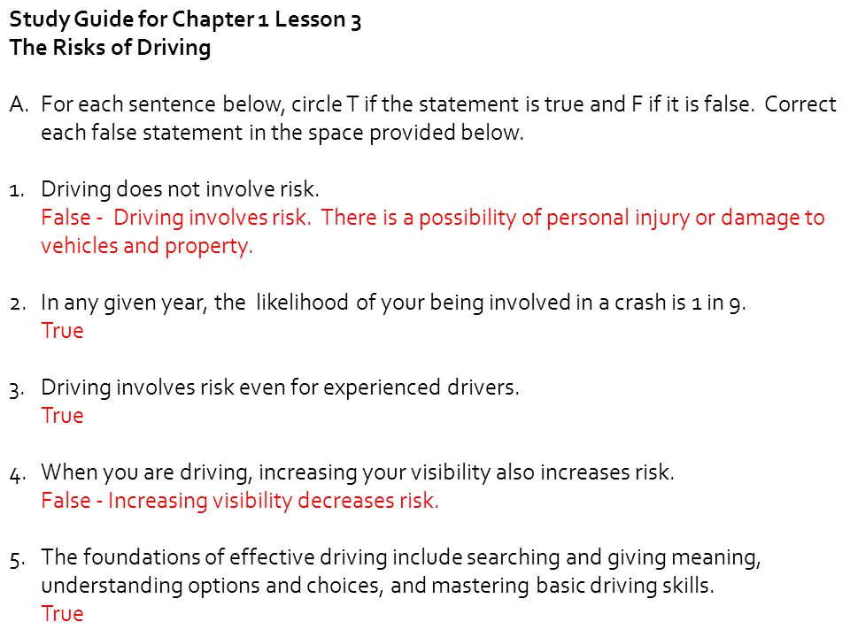 Study Guide for Chapter 1 Lesson 3