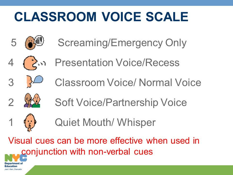 CLASSROOM VOICE SCALE 5 Sc Screaming/Emergency Only