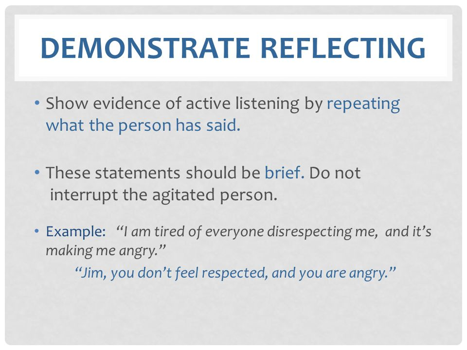 Demonstrate Reflecting
