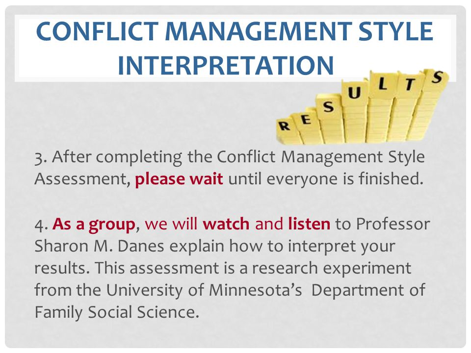 conflict management style Interpretation