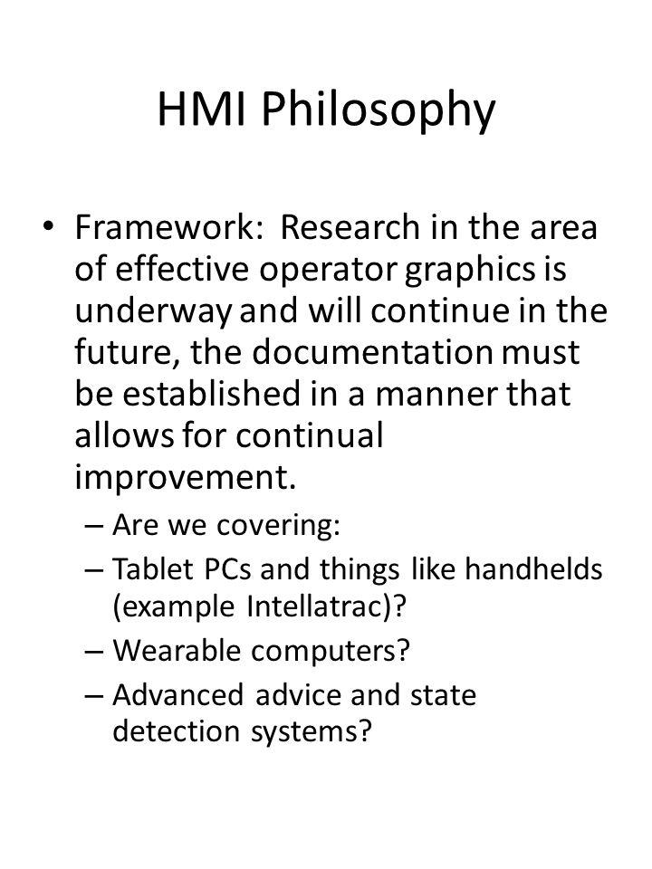 HMI Philosophy