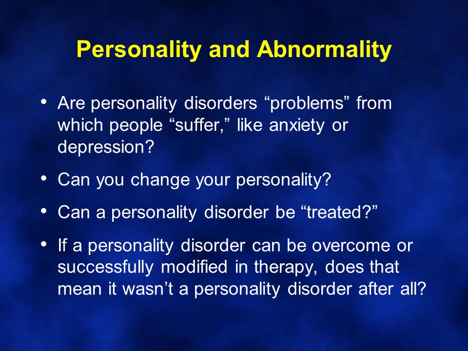Personality and Abnormality