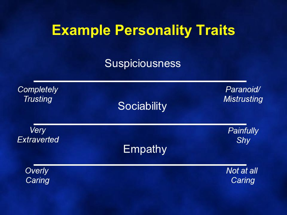 Example Personality Traits