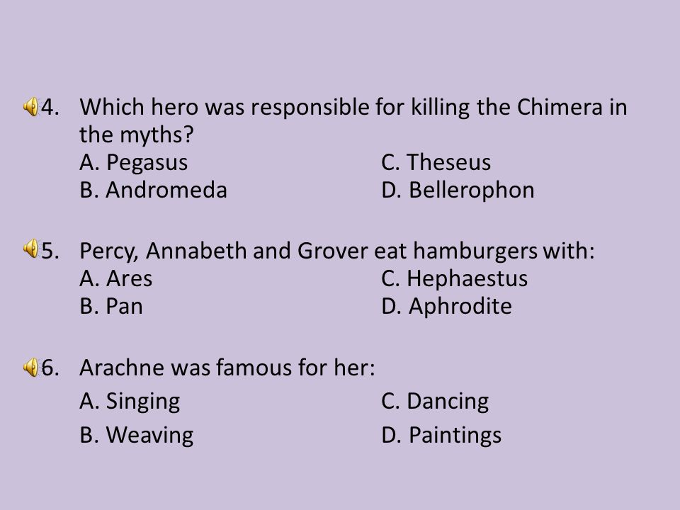 Which hero was responsible for killing the Chimera in the myths. A
