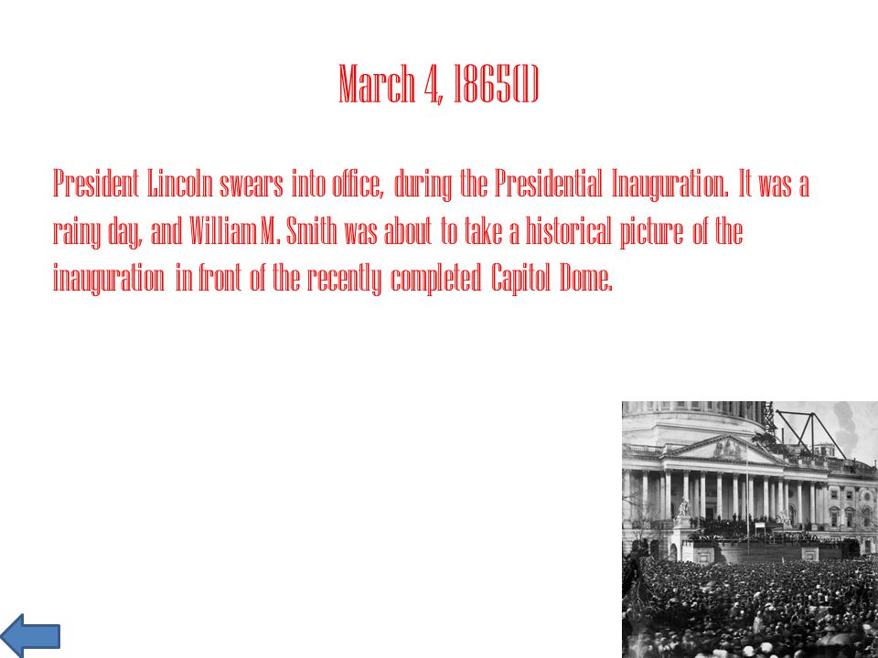 March 4, 1865(1)