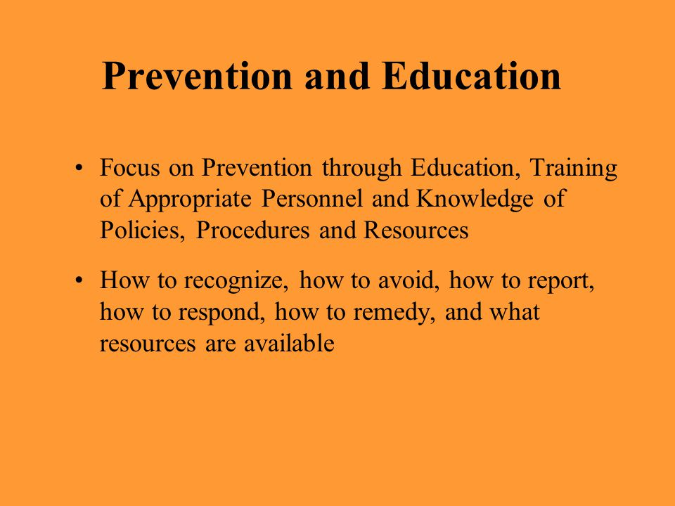 Prevention and Education