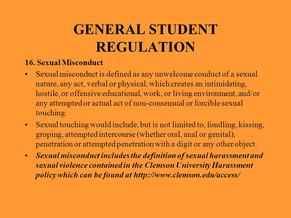 GENERAL STUDENT REGULATION