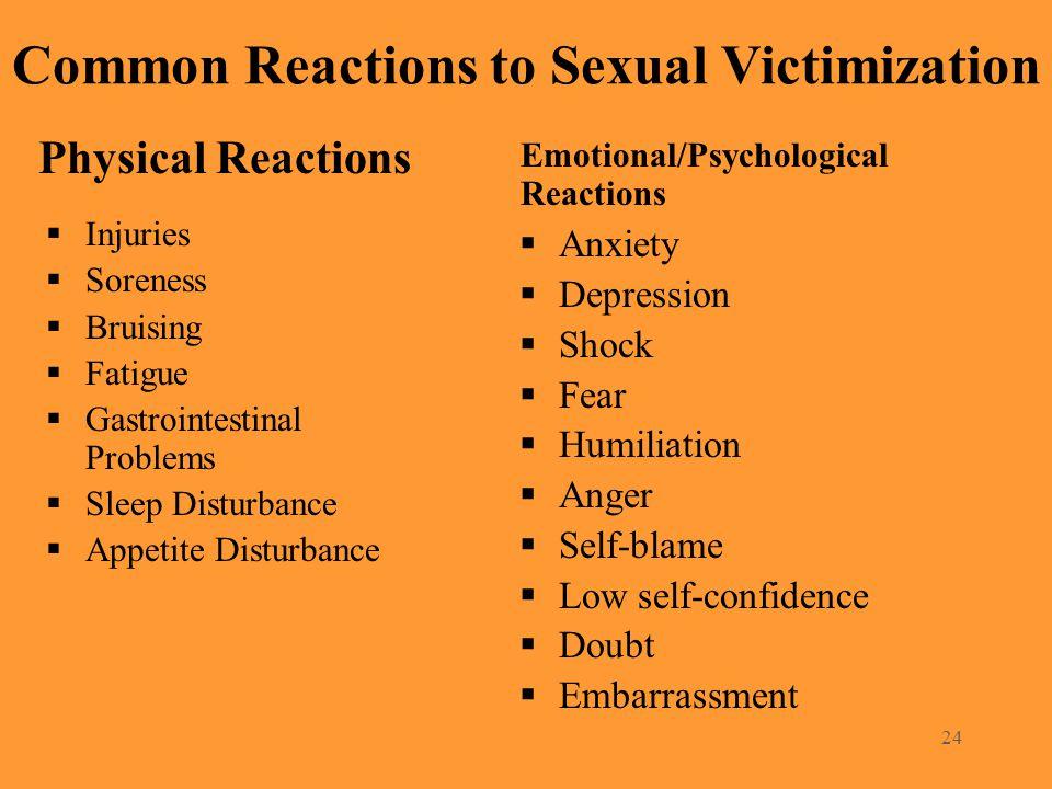 Common Reactions to Sexual Victimization
