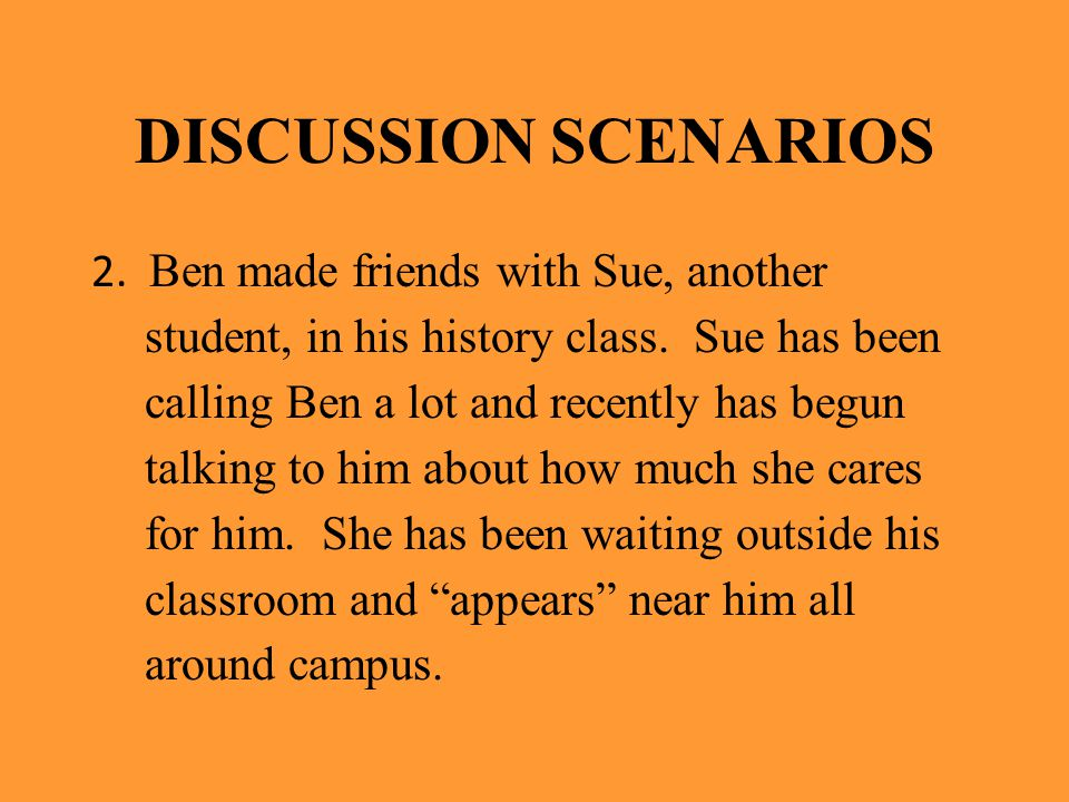 DISCUSSION SCENARIOS