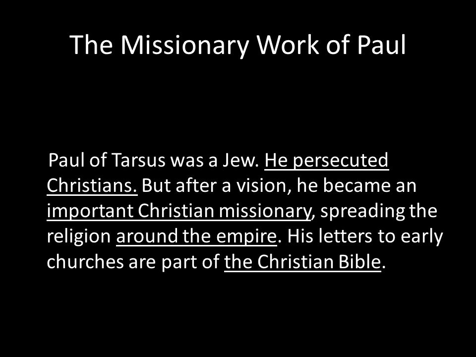 Christian Missionary Work