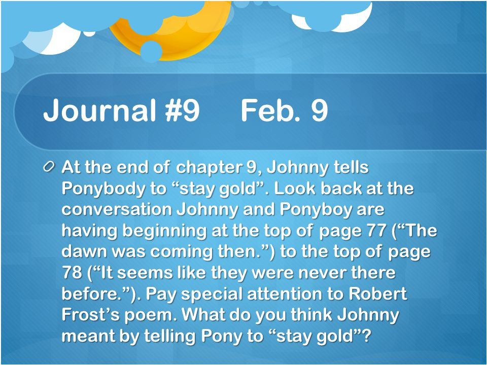 Journal #9 Feb. 9
