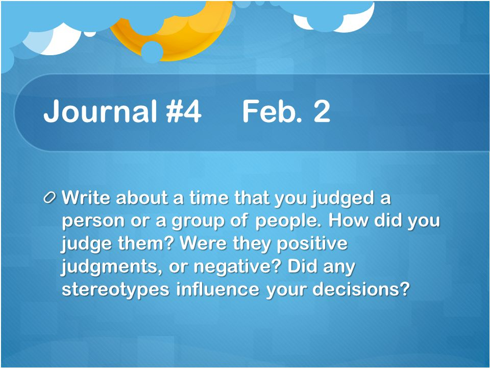 Journal #4 Feb. 2