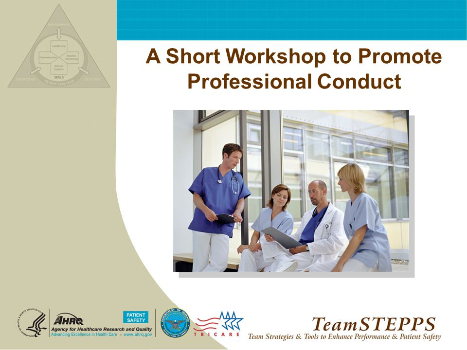 A Short Workshop to Promote Professional Conduct