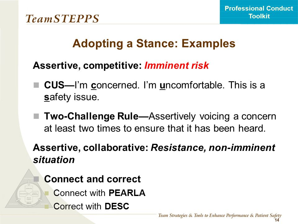 Adopting a Stance: Examples