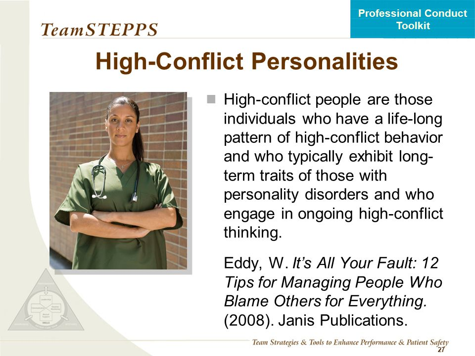 High-Conflict Personalities