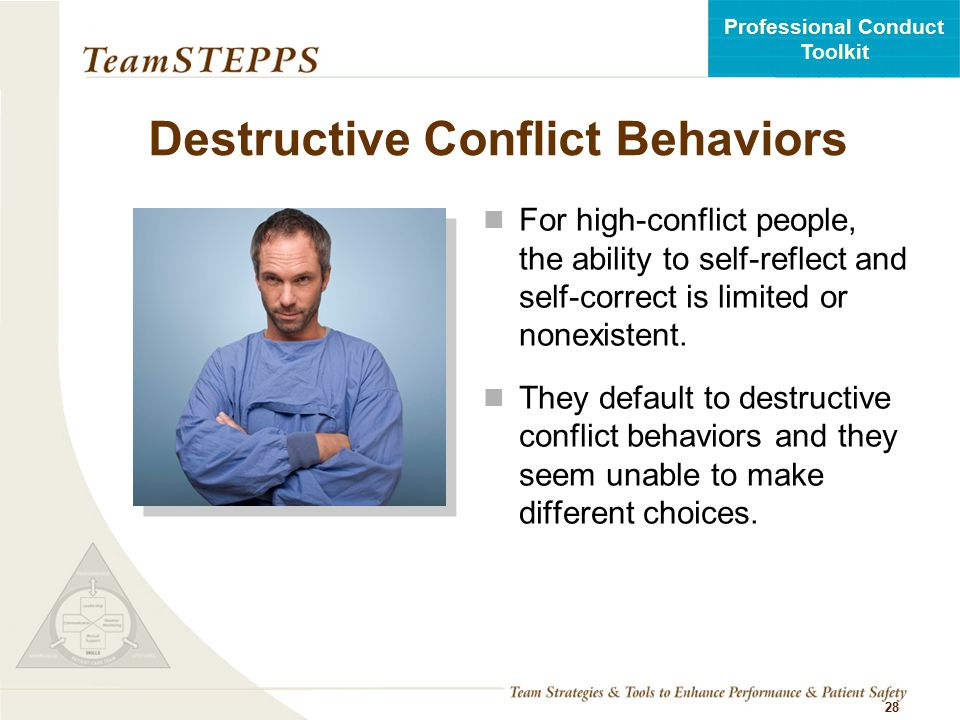 Destructive Conflict Behaviors