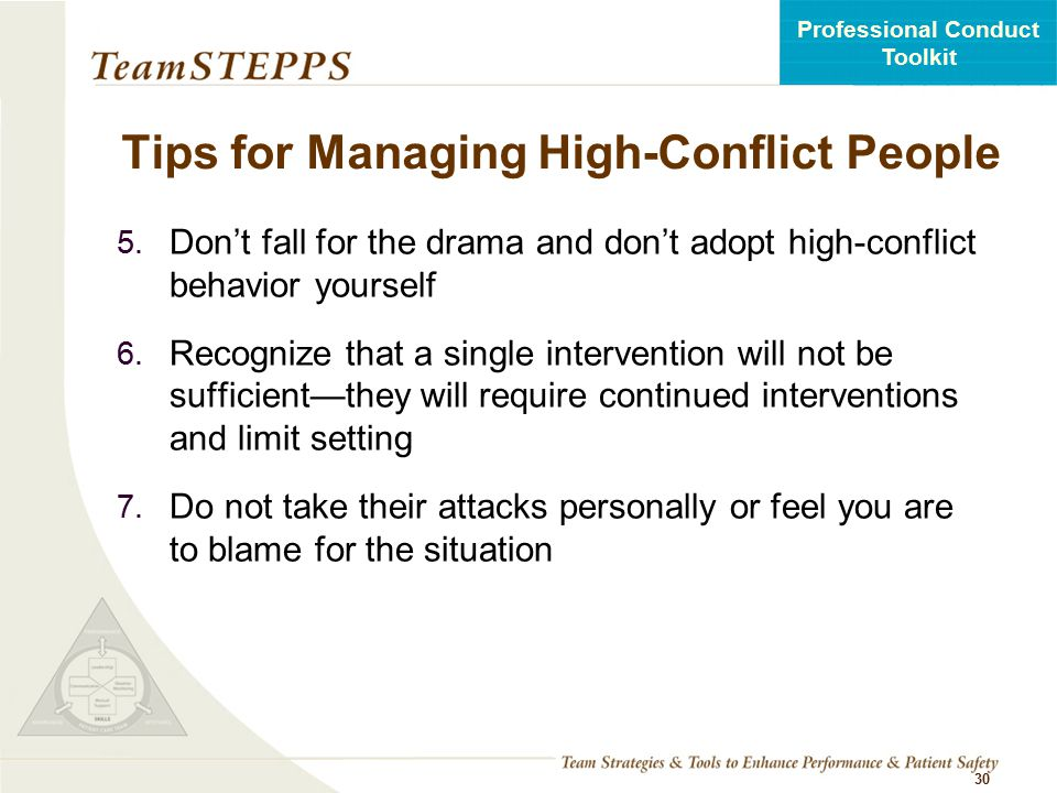 Tips for Managing High-Conflict People