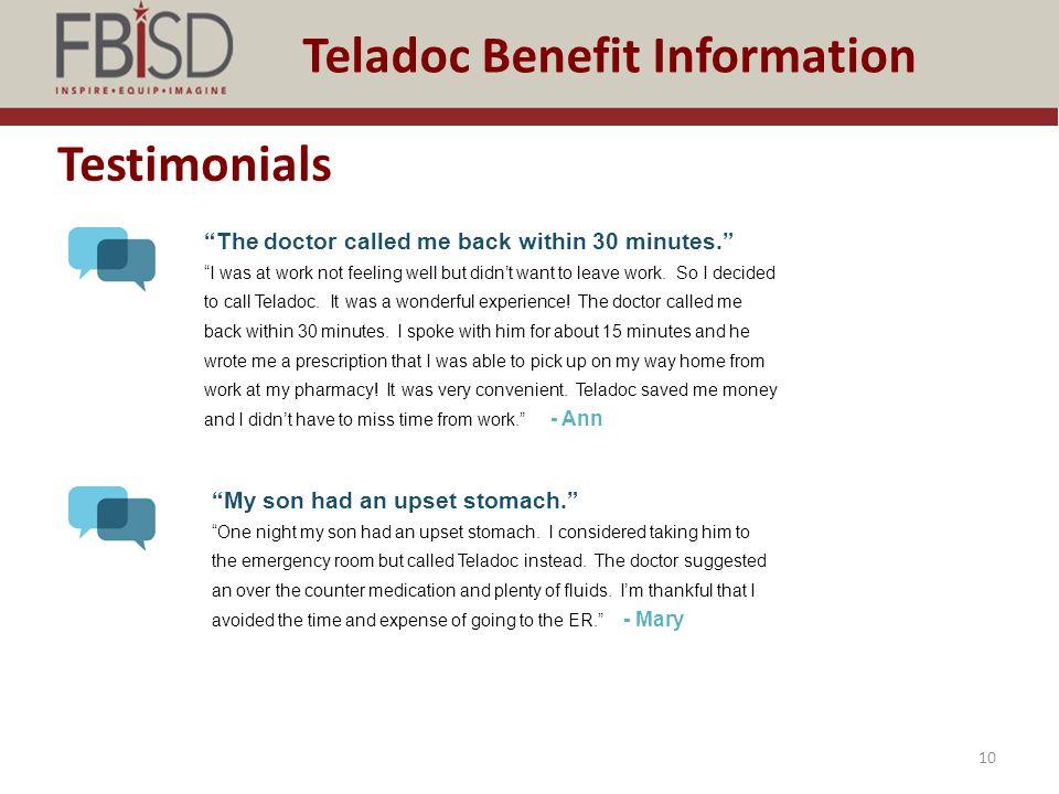 Teladoc Benefit Information