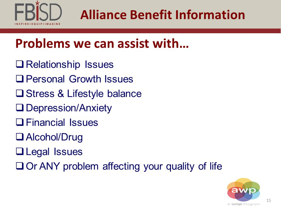 Problems we can assist with…