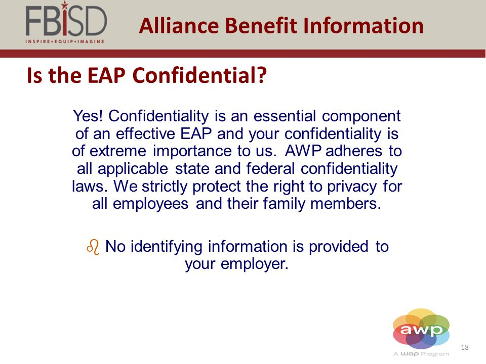 Is the EAP Confidential