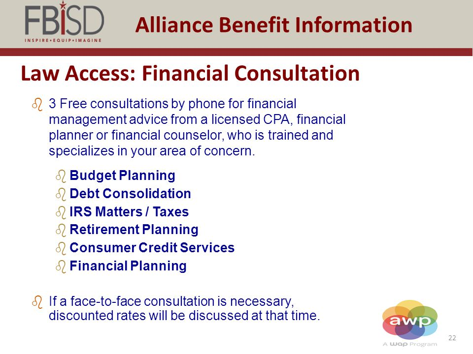 Law Access: Financial Consultation