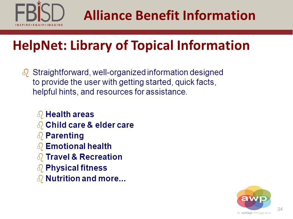 HelpNet: Library of Topical Information