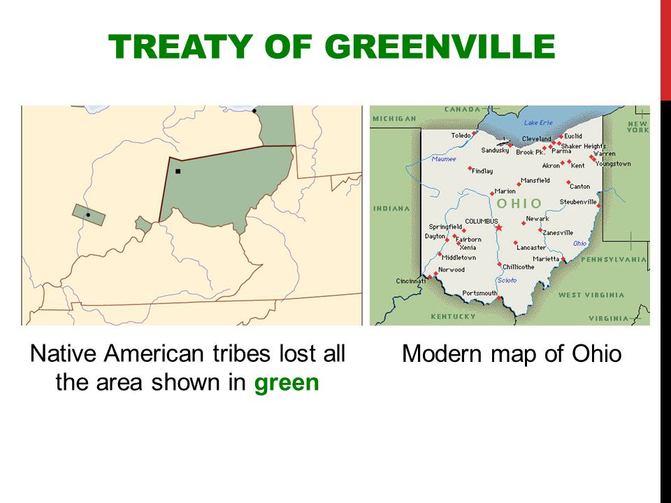 Native American tribes lost all the area shown in green