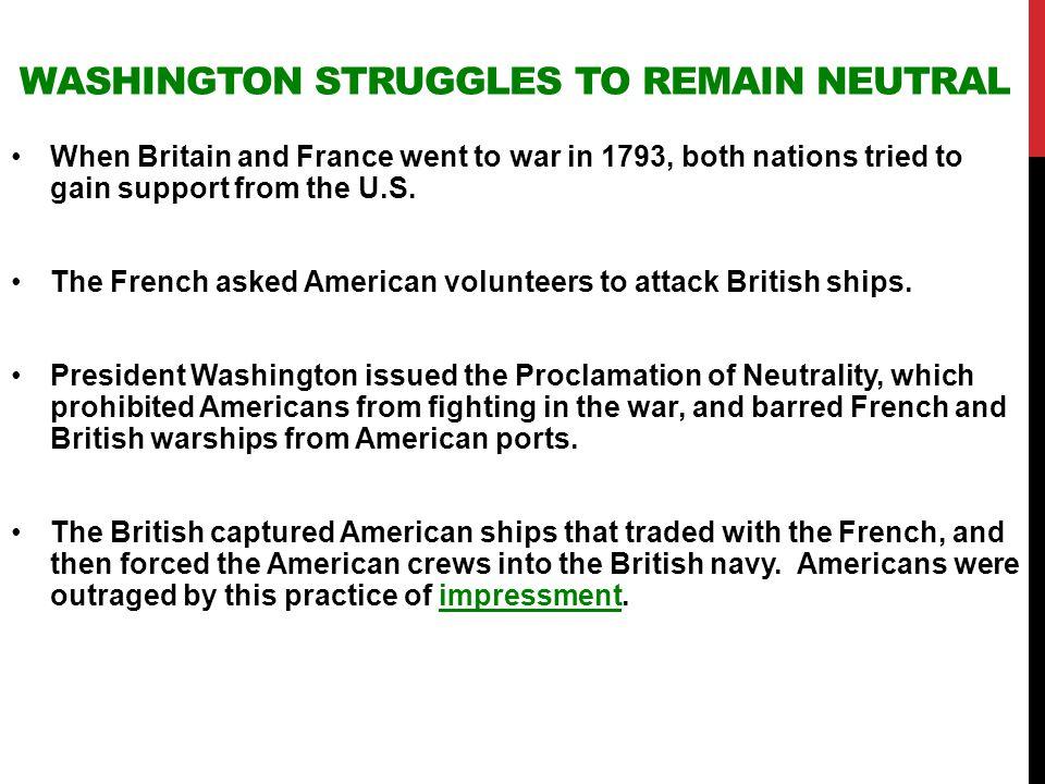 Washington Struggles to Remain Neutral