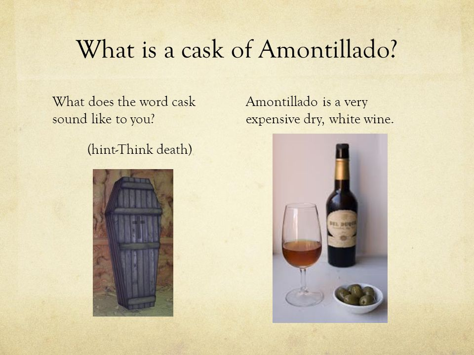 What is a cask of Amontillado