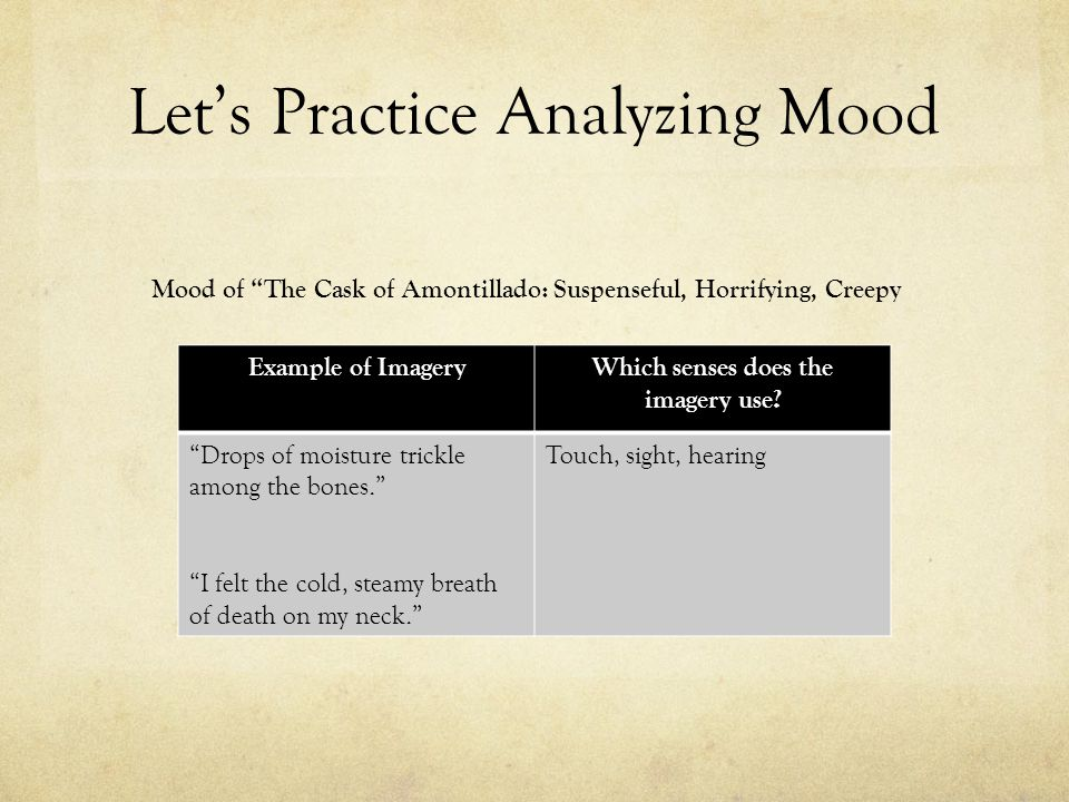 Let's Practice Analyzing Mood