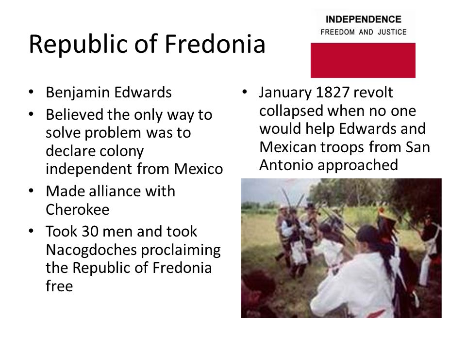Republic of Fredonia Benjamin Edwards