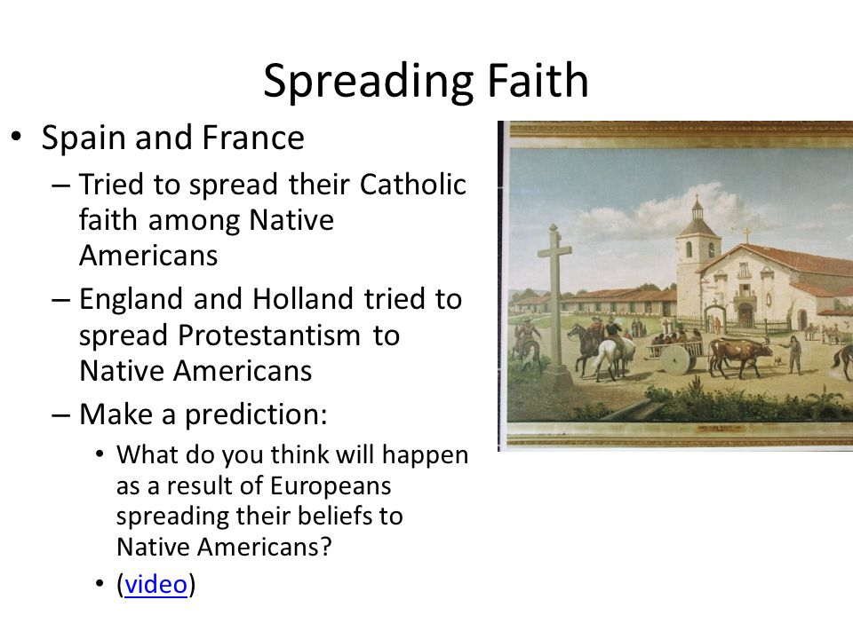 Spreading Faith Spain and France