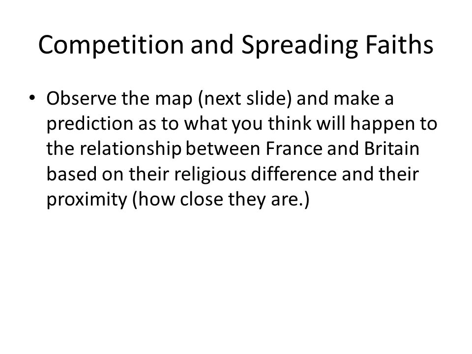 Competition and Spreading Faiths
