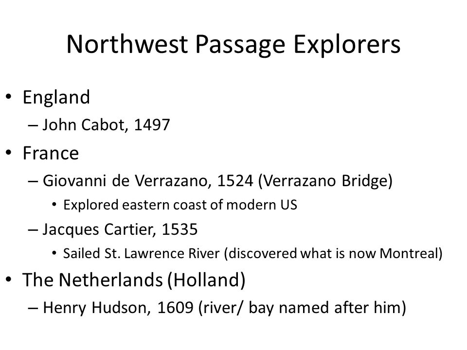 Northwest Passage Explorers